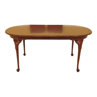 Henkel Harris Cherry Queen Anne #2205 Dining Table For Sale