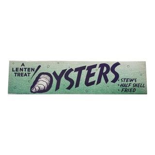 Vintage Shelter Island Oyster Label For Sale
