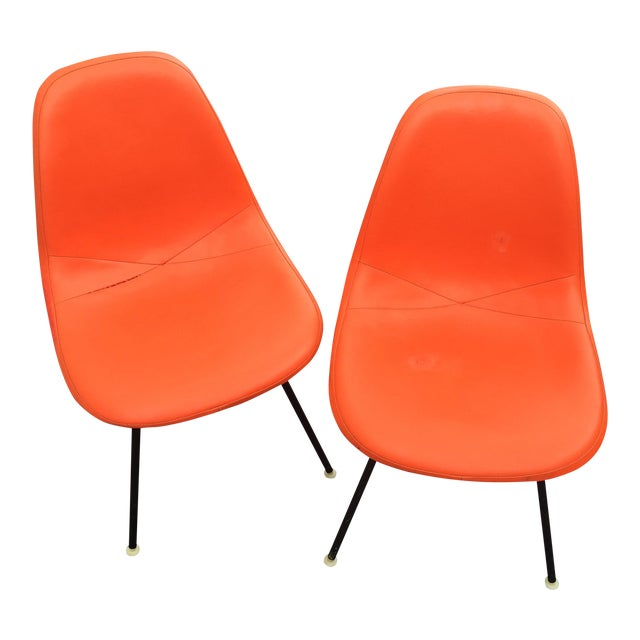 '59 Herman Miller Padded Eames Shell Chairs - Pair - Image 1 of 9