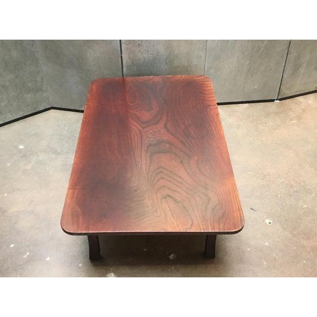 Asian Antique Japanese Keyaki Wood Folding Coffee Table, circa 1900 For Sale - Image 3 of 7