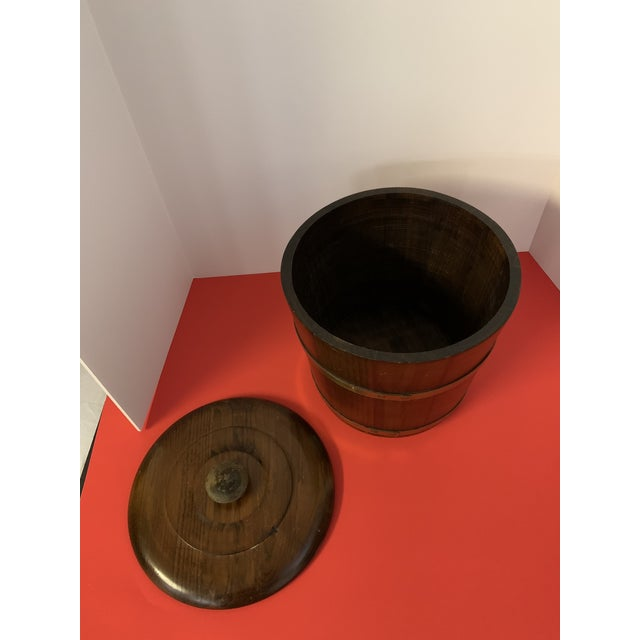 Late 19th Century Oak Ice Bucket For Sale - Image 4 of 6