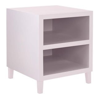 Elza End Table in White For Sale