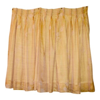 Vintage Yellow Drapes Curtains - a Pair For Sale