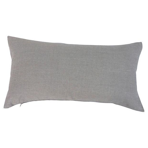 Black & Neutral Silk Ikat Pillow - Image 4 of 4