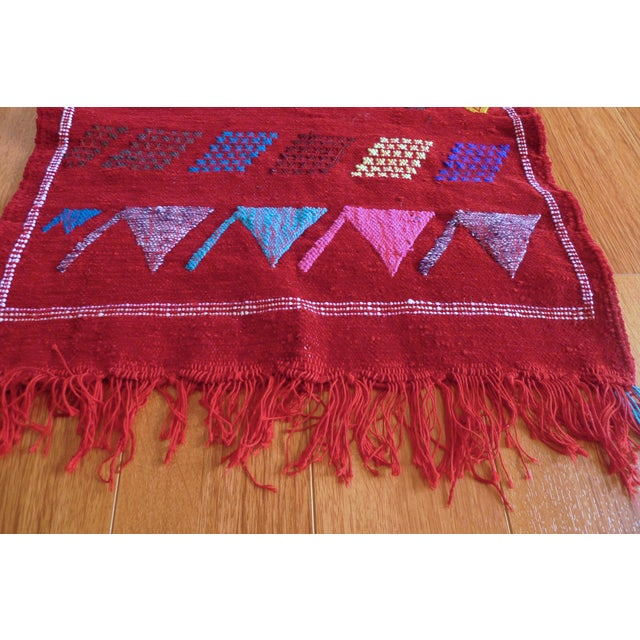 Moroccan Berber Motifs & Animals Rug - 1′8″ × 3′ - Image 3 of 8