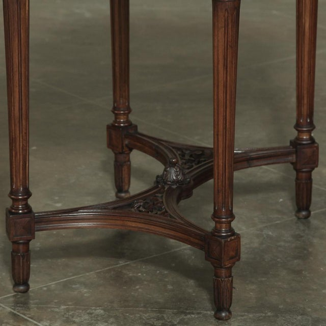 19th Century French Louis XVI Marble Top Oval End Table For Sale In Dallas - Image 6 of 12