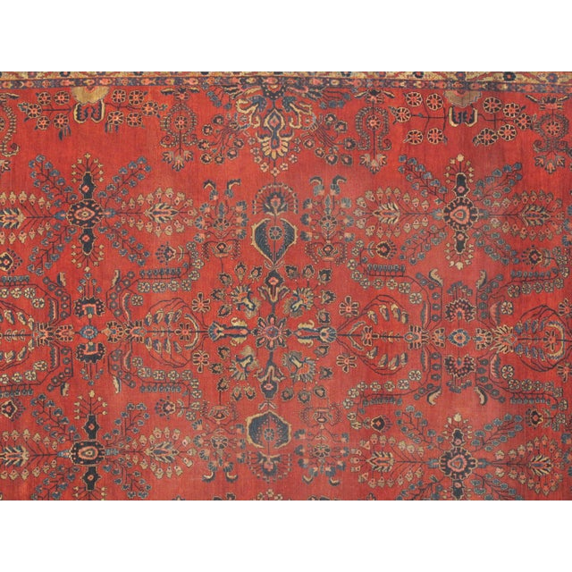 Early 20th Century Antique Sarouk Mohajeran Rug - 10′5″ × 13′7″ For Sale - Image 4 of 5