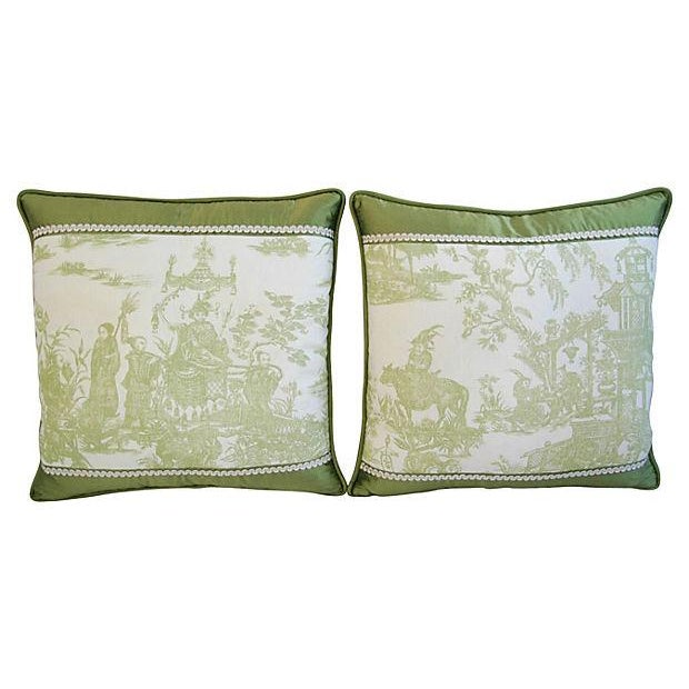 Designer Chris Stone Chinoiserie Pillows - Pair - Image 6 of 8