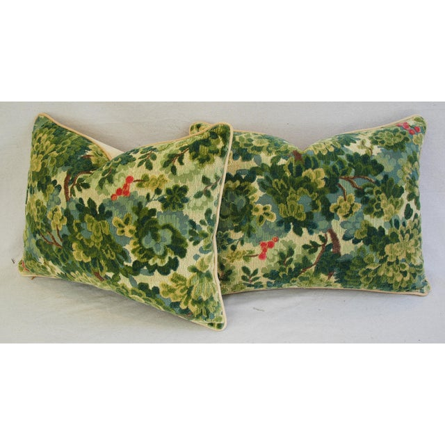 Custom-Tailored Scalamandre Velvet Marly Pillows - Pair - Image 10 of 11