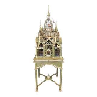 """Vintage Maitland-Smith Victorian """"Cathedral"""" Birdcage For Sale"""