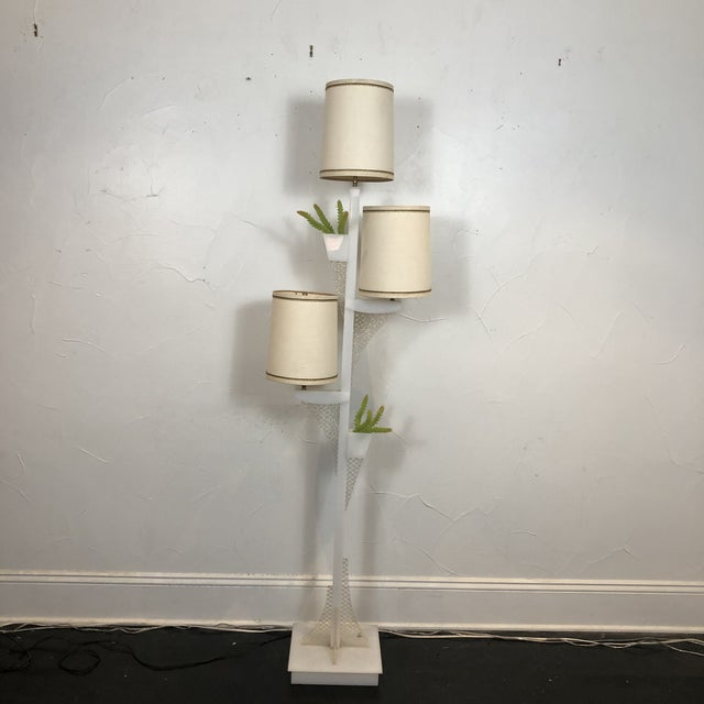 Fabulous pair of mid century modern lucite moss floor lamp custom designed in San Francisco in the 1950s by Moss Lighting...