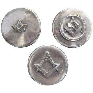 Masonic Silver Plated Keepsake Holders - Set of 3
