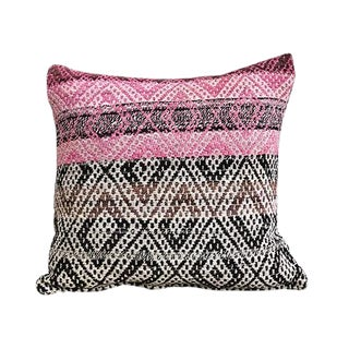 Kim Salmela Diamond Pattern Peruvian Kilim Square Pillow For Sale