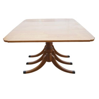 5 Foot Vintage Mahogany Dining Table With Drop Leaves by Rway For Sale