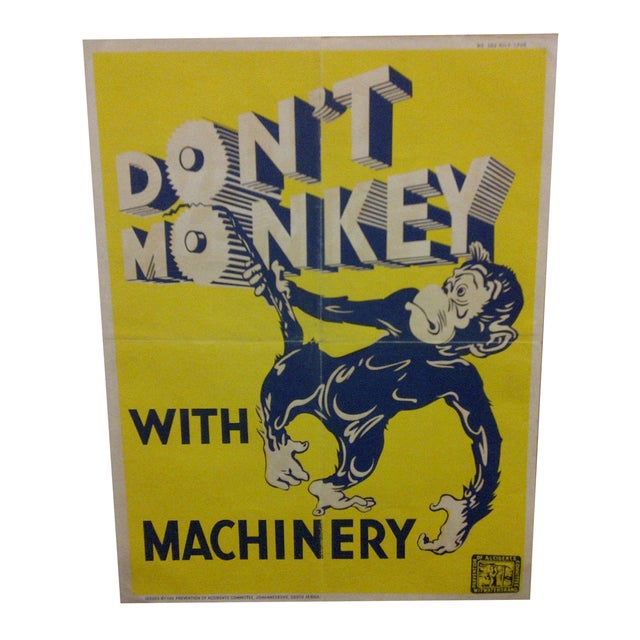 Vintage South African Safety Poster For Sale