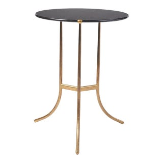Cedric Hartman Black Granite AE Small Table, 1973 For Sale