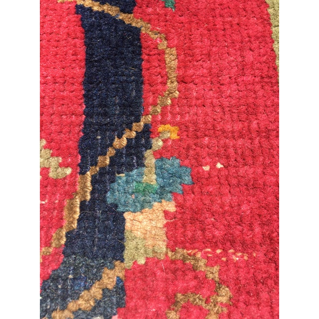 Chinese Art Deco Nichols Red and Green Rug - 2′11″ × 4′11″ For Sale In Chicago - Image 6 of 12