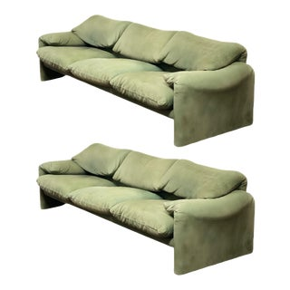 1980s Maralunga Three-Seater Sofa by Vico Magistretti for Cassina For Sale