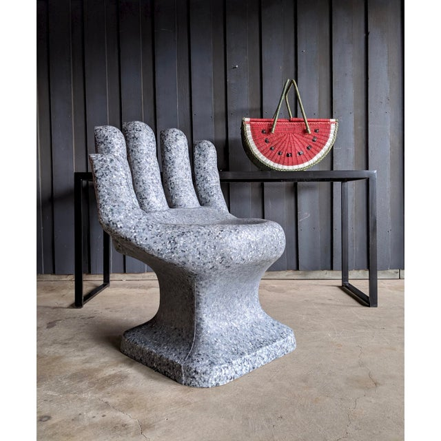 Sculptural Granite-Look Hand Chair For Sale - Image 9 of 13
