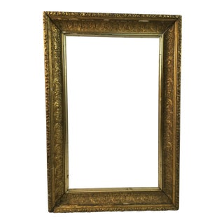Traditional Gold Gilt Frame For Sale