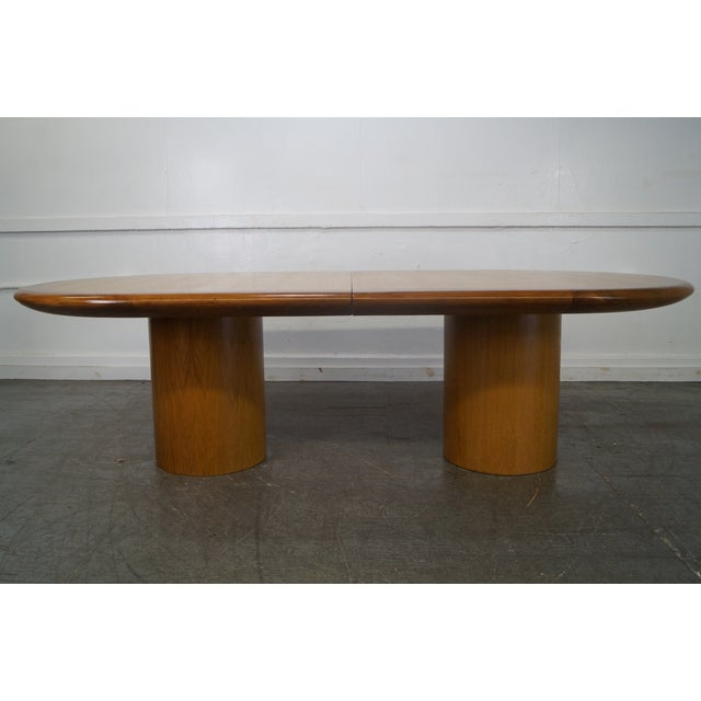 Studio Crafted MidCentury Style Wood Conference Table Chairish - Mid century conference table