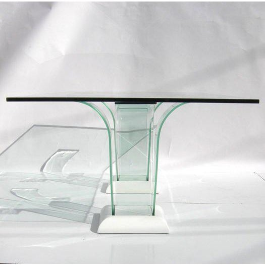 Modern Modernage Glass Dining Table With Chairs For Sale - Image 3 of 9