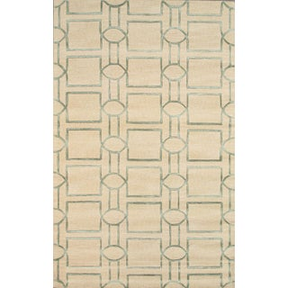 Pasargad Transitiona Vsilk & Wool Rug - 5' X 8' For Sale