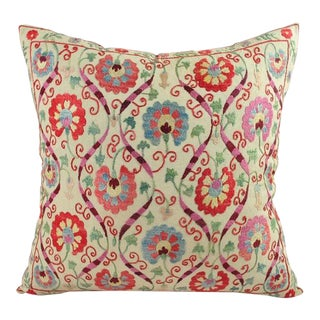 "Uzbek Suzani Pillow Cover I - 20"" x 20"""