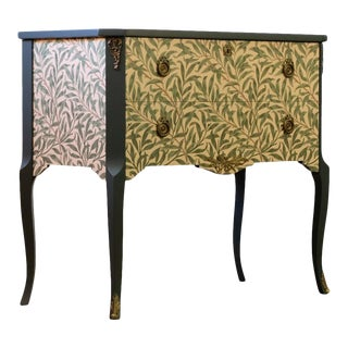 Gustavian Floral Painted Commode, 1960s For Sale
