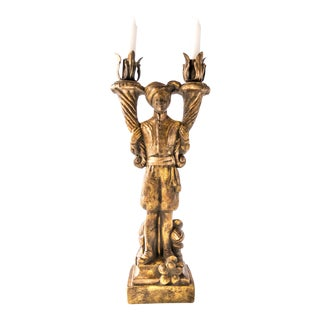 Vintage Venetian Nubian Sculptural Candle Holder by Milano Designs