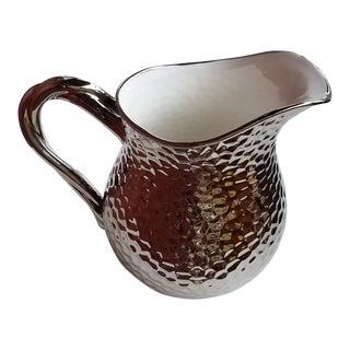 Silver Luster Porcelain Bar Pitcher