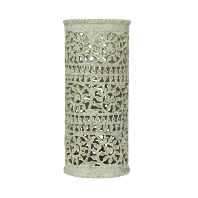 Soft Green Pierced Marble Vase - Image 1 of 4