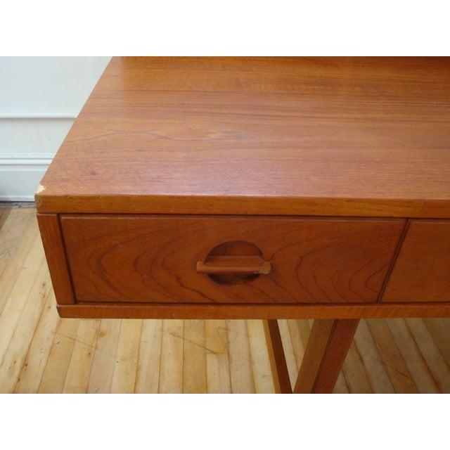 Brown Dansk Lovig Flip-Top Teak Partners Desk or Table For Sale - Image 8 of 10