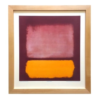 "Mark Rothko Rare Vintage 1971 Abstract Expressionist Framed Collector's Fine Art Lithograph Print "" Untitled "" 1962 For Sale"