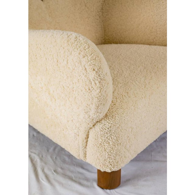 Scandinavian Sheepskin Lounge Chair - Image 9 of 10