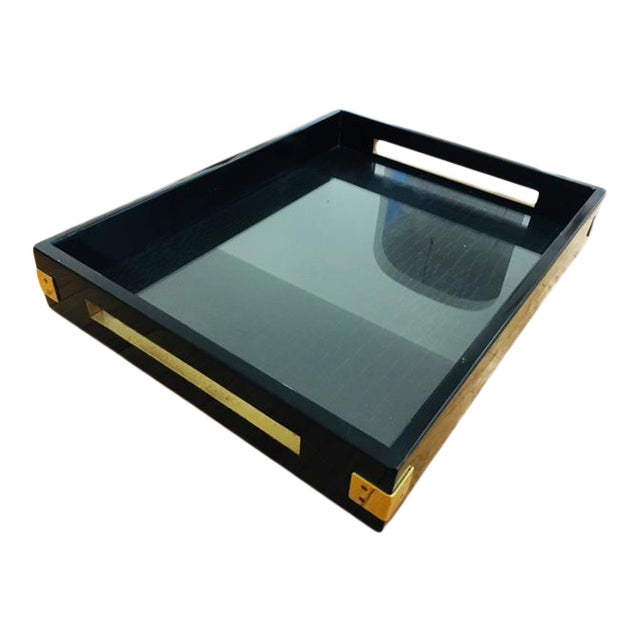 Large Gold Coffee Table Tray: Large Black And Gold Serving Tray