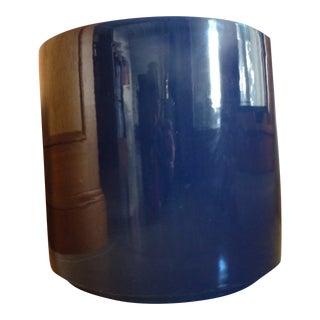 Mid-Century Gainey Gloss Cobalt Blue Planter For Sale