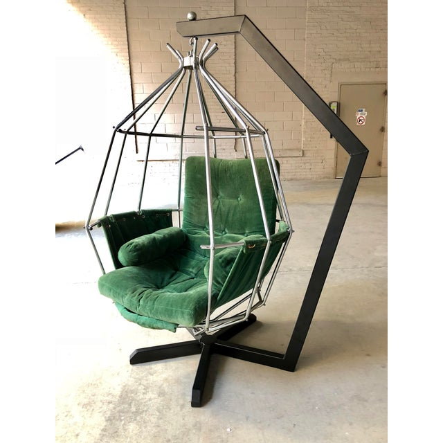 Mid Century Modern Ib Arberg Parrot Chair Hanging Birdcage Chair For Sale - Image 4 of 13