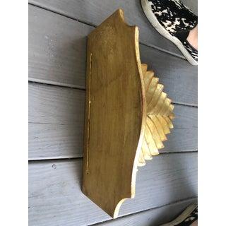 Vintage Italian Carved Wooden Gold Leaf Shelf Bracket Preview