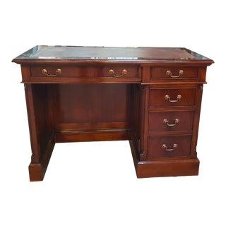 Traditional Mahogany Single Bank Desk For Sale