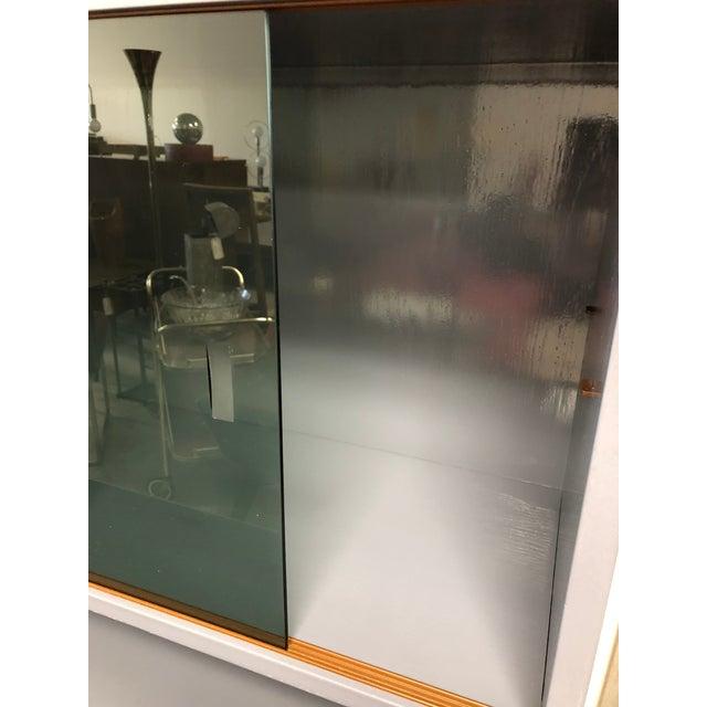 1970s Danish Modern Grey Lacquered Secretary Desk For Sale - Image 4 of 11