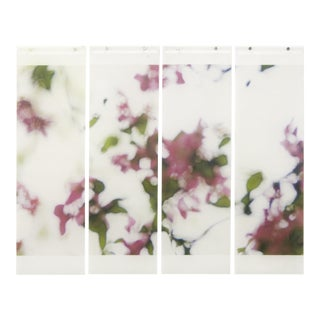 Shivering Crabapple No. 5, 2016, Archival pigment ink on kozo paper infused with encaustic medium by Jeri Eisenberg (quad) For Sale