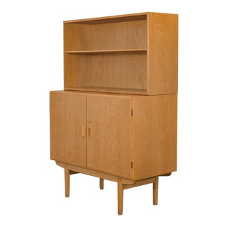 1960s Danish Modern 2 Pc. Chest Credenza For Sale
