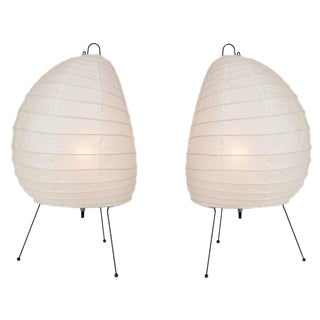 Akari Model 1n Light Sculptures by Isamu Noguchi - a Pair For Sale