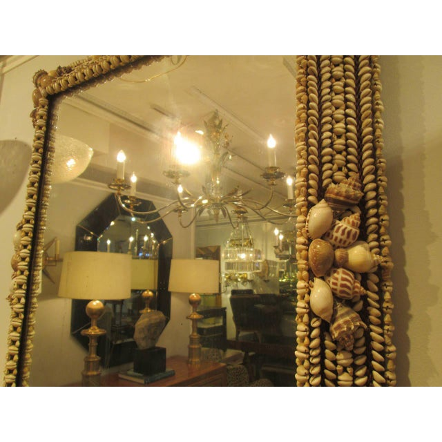 Hand-Crafted Shell Mirror For Sale - Image 4 of 7