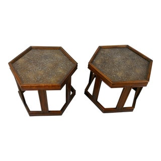 1960s Mid-Century Modern Brown and Saltman End Tables - a Pair For Sale