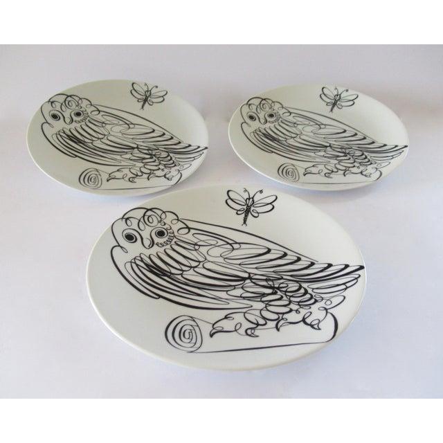 Piero Fornasetti Uccelli Calligrafici Bird Plate #6 C.1962 For Sale - Image 10 of 13