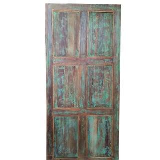 Antique Teal Blue Old Wooden Door Front Door Panel Preview