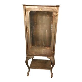 Vintage Steel and Glass Medicine Cabinet For Sale