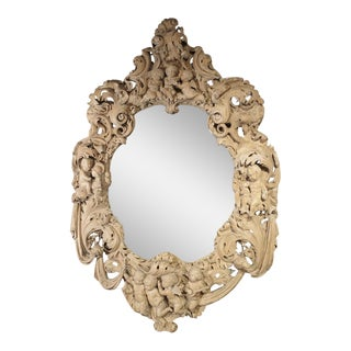 Monumental 19th Century Baroque Mirror from Italy For Sale